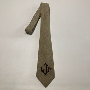 Vintage Men's Wool Tie Tan And Brown
